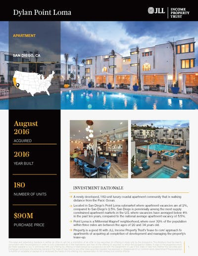 Dylan Point Loma Property Profile 022020 Cover Page