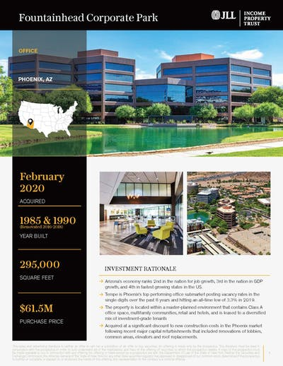 Fountainhead Corporate Park Property Profile Cover