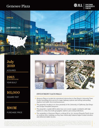 Genesee Plaza Property Profile 022020 Cover Page