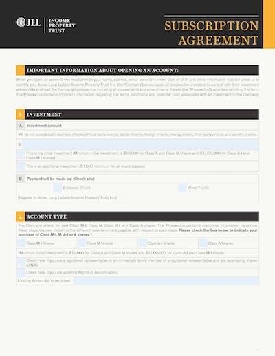 Jllipt Subscription Agreement Cover