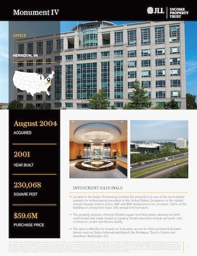 Monument Iv Property Profile 082020 Cover Page