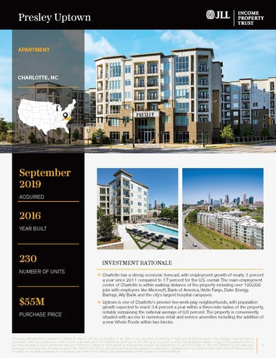 Presley Uptown Property Profile 032020 Cover