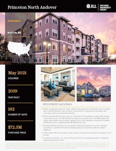 Princeton North Andover Property Profile 050621 Cover