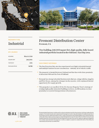 Property Profile Fremont Distribution Center 1