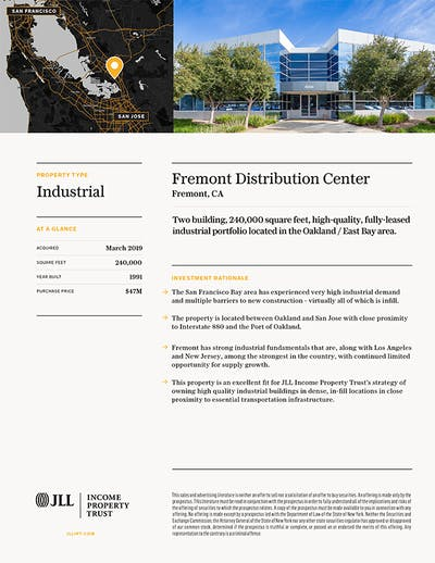 Property Profile Fremont Distribution Center 1