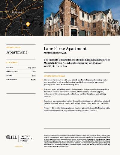 Property Profile Lane 1