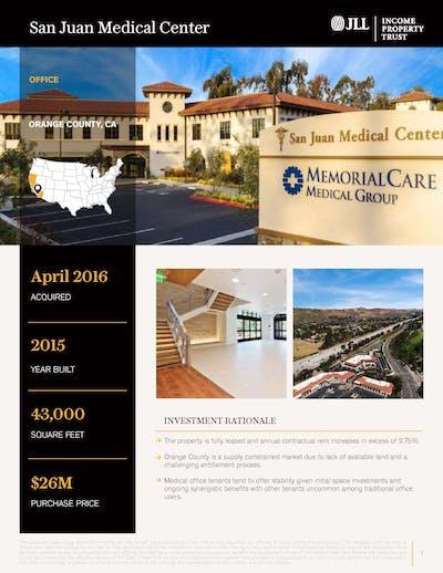 San Juan Medical Center Property Profile 092020 Cover