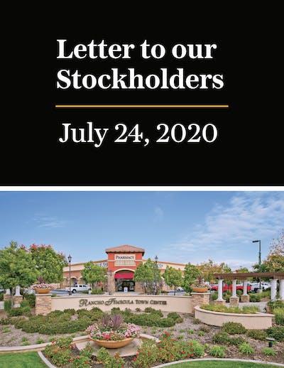 Stockholder Letter Cover