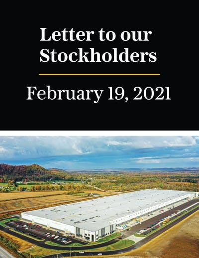 Stockholder Letter Feb 2021