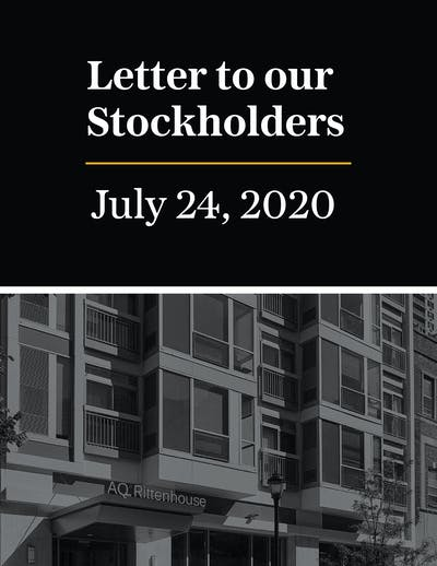 Stockholder Letter July 2020 01